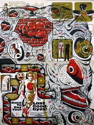 vicente aguado vicenteaguado deepstateshop deepstate deepstate.es drawing illustration original artwork portrait underground art outsider art surrealism street art new pop art