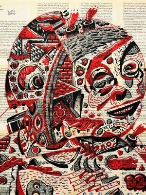 PULKAS LOADED VICENTEAGUADO VICENTE AGUADO potrait drawing illustration underground art deepstateshop deepstate.es deepstate