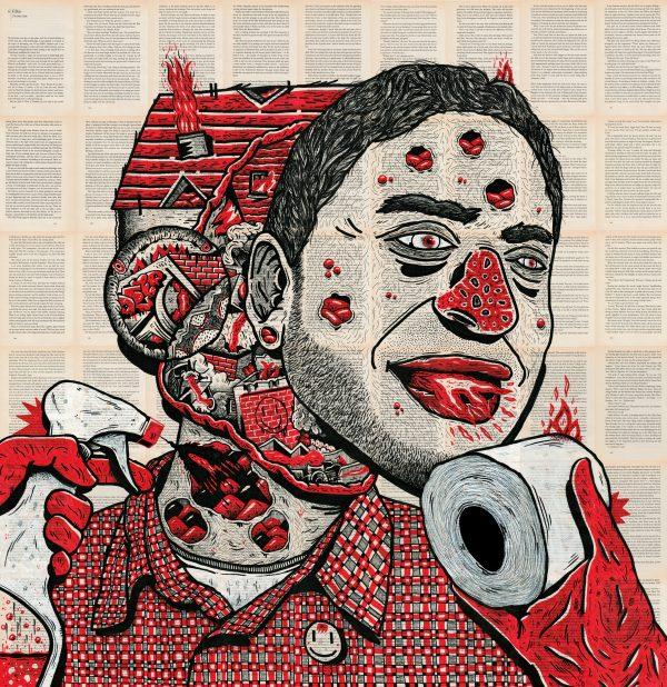 vicente aguado deepstate deepstateshop drawing illustration portrait contemporary portrait contemporary art art surrealism expressionism face street art underground art outsider art