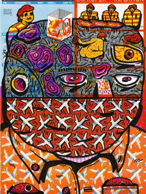 vicente aguado deepstate deepstateshop drawing illustration portrait contemporary drawing contemporary portrait art contemporary art underground art outsider art surrealism face ugly pop popart mask face mask