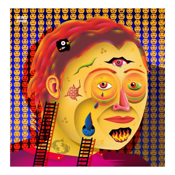 vicente aguado deepstate deepstateshop giclee gicleeprint print limited edition print portrait art contemporary portrait pop popart surrealism underground art outsider art